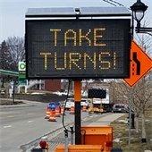 Take Turns sign